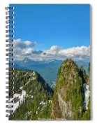 Drone Shot Above Heather Lake Spiral Notebook