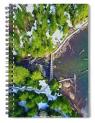 Drone Shot Of Lake 22 Bridge Spiral Notebook