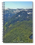 Drone Shot Of Lake Evan Spiral Notebook