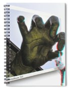 Drop Out - Use Red-cyan 3d Glasses Spiral Notebook