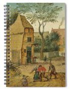 Drunkard Being Taken Home From The Tavern By His Wife Spiral Notebook