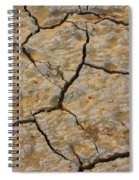 Dry Cracked Lake Bed Spiral Notebook