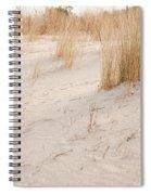 Dry Dune Grass Plants Spiral Notebook