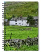Dry Stone Wall And White Cottage - P4a16022 Spiral Notebook
