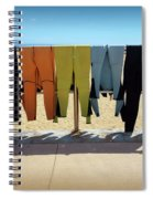 Drying Wet Suits Spiral Notebook