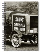 Du Pont Co. Explosives Truck Pennsylvania Coal Fields 1916 Spiral Notebook