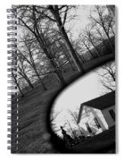Duality - A Black And White Photograph Symbolically Representing The Gravity Of Choice  Spiral Notebook