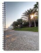 Dubai Beach Sunset Spiral Notebook