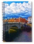 Dublin's Fairytales Around Grattan Bridge 2 Spiral Notebook