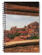 Dubrovnik City In Southern Croatia Spiral Notebook