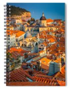 Dubrovnik Sunset Spiral Notebook