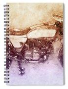 Ducati Supersport 2 - Sports Bike - 1975 - Motorcycle Poster - Automotive Art Spiral Notebook