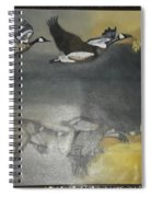 Duck Are Flying On The Sea Side Spiral Notebook
