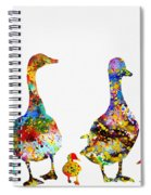 Duck Family-colorful Spiral Notebook