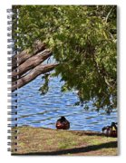 Duck Into The Shade Spiral Notebook