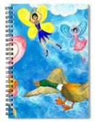 Duck Meets Fairy Ballet Class Spiral Notebook