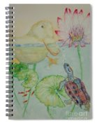 Duck Pond Spiral Notebook