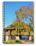 Duck Pond Gazebo At Virginia Tech Spiral Notebook