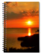 Duck Sunset Outer Banks North Carolina Spiral Notebook