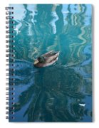 Duck Swimming In The Blue Lagoon Spiral Notebook