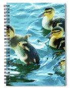 Ducklings Digital Water Color Spiral Notebook