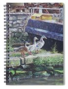 Ducks On Dockside Spiral Notebook