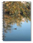 Ducks On Peaceful Autumn Pond Spiral Notebook