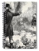 Duel Between Burr And Hamilton Spiral Notebook