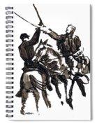 Dueling Sabres Spiral Notebook