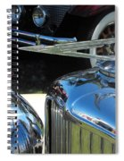 Duesenberg Hood Ornament  Spiral Notebook
