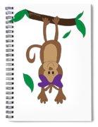 Duffworkscreative_monkeyfunlove_hangin Spiral Notebook