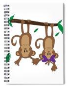 Duffworkscreative_monkeyfunlove_holdinghands Spiral Notebook