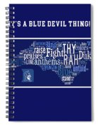 Duke University Blue And White Products Spiral Notebook