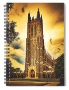 Duke University Chapel At Dusk Spiral Notebook