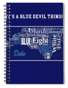 Duke University Fight Song Products Spiral Notebook