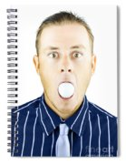 Dumbfounded Man Silenced By A Golf Ball Spiral Notebook