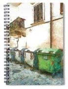 Dumpster Of Garbage Spiral Notebook
