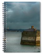Dun Laoghaire Harbor Lighthouse Spiral Notebook
