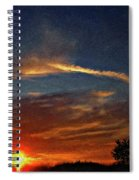 Dune Dreaming Impasto Spiral Notebook