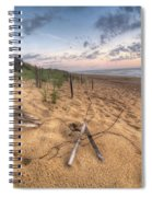 Dune Fencing Down Spiral Notebook