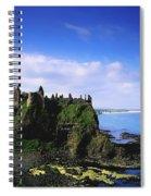 Dunluce Castle, Co Antrim, Irish, 13th Spiral Notebook