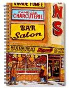Dunn's Restaurant Montreal Spiral Notebook