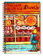 Dunn's Treats And Sweets Spiral Notebook