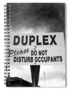 Duplex Yard Sign Stormy Sky In Bw Spiral Notebook