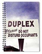 Duplex Yard Sign Stormy Sky Spiral Notebook