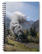 Durango And Silverton Train At Elk Park Wye Spiral Notebook