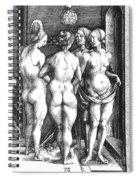 Durer Four Witches, 1497. For Licensing Requests Visit Granger.com Spiral Notebook