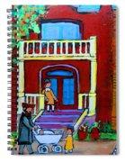 Durocher Street Montreal Spiral Notebook