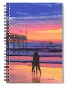 Dusk At The Pier Spiral Notebook