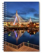 Dusk At The Zakim Bridge Spiral Notebook
